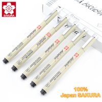 Wholesale Micron Drawing Pens - Wholesale-Sakura Micron Lnk Technical Pen Manga Comic Pro Drawing Pens Black Ink-9 Assorted Tip Pack
