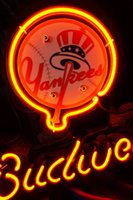 Wholesale Yankees Sign - New Tat tire Neon Beer Sign Bar Sign Real Glass Neon Light Beer Sign IF 023-Budweiser-MLB-Yankees (2)