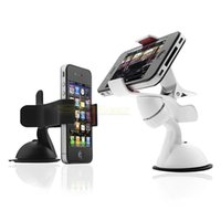 Wholesale Wholesale Gps Chips - Wholesale- Universal Car Holder Windshield Mount Stand Bracket for iPhone GPS Phone SAMSUNG Chips 011
