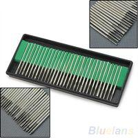 30 pcs Diamond Coated 3 mm cylindrique cylindre Rotary Drills Bits Bit Burr bavures