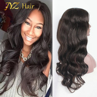 Wholesale 12 strand - JYZ Full Lace Human Hair Wigs Brazilian Virgin hair Body Wave Human Lace Front Wigs Fashion Body Wave Hair With Adjustable Strands