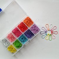 Wholesale Pin Marker - NEW SIZES! Locking Stitch Markers - Set of 300 pcs - 30 pcs in 10 color pear shaped bulb shaped safety pin