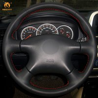 Wholesale renault wheel covers - Mewant Black Artificial Leather Car Steering Wheel Cover for Nissan Almera N16 Pathfinder Primera XTrail 2001-2006 Renault Samsung SM3