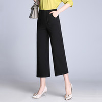 Vogue Style Donne Plus Size Business Wear Pantaloni Formal Suit Office Lady Work Wear Pantaloni Neri Gambi Casual Casual Capris
