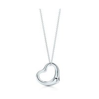 Wholesale Pendant Silver Earrings - 2016 New Popular High-end Jewelry Silver Jewelry Necklace Silver Plated Heart Pendant Necklace x2
