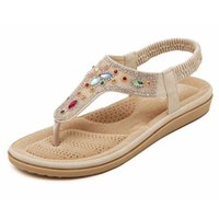 Wholesale Ladies New Style Sandal - Wholesale-New Bohemian Style 2016 Summer Women Shoes Fashion Womens Sandals Flip Flops Brand Beach Slippers Ladies Sweet High Quality T175