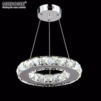 Wholesale Led Hallway Lighting For Office - Modern LED Crystal Pendant Light Fixture Aisle Porch Hallway Lamp Crystal Ring Lustres Hanging Lighting for Living Room 100% Guarantee