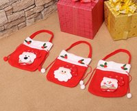 New Hot Sale Christmas Decorações Presentes Candy Elderly Gift Tote Bag Cute Best Price