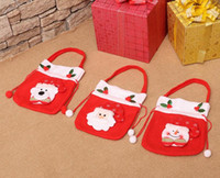 Wholesale Cloth Tote Bags Wholesale - New Hot Sale Christmas Decorations Gifts Candy Elderly Gift Tote Bag Cute Best Price