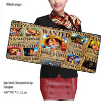 Wholesale Posters Games - One Piece Anime Poster Large Size Mouse Pad Customized Black Precision Lock Side Anti-slip Office Notebook Computer Keyboard Game Pad