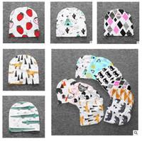 Wholesale Crochet Bird Hats - Fox Baby Hats Winter Autumn Crochet Girl Boy Cap Unisex Beanie Animal Bird Infant Cotton knitted toddlers Children hats Free Shipping