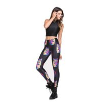 Wholesale Free Sexy Wolf Women - Leggings Women Western Fashion wolf Printed Polyester Mid slim Free Ankle Length Sexy Free Leggings yoga trousers