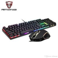 Wholesale Mouse Sets - Motospeed Keyboards CK888 RGB Backlight Mechanical Gaming Keyboard and Mice Game Keyboard Mice Set with 1.8M Cable for Computer Pro Gamer TB