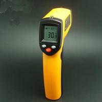 arma de contato venda por atacado-10 PCS sem contato LCD IR Laser com termómetro de temperatura digital infravermelho Ponto de pistão GM320 -50 ~ 330 ºC DHL
