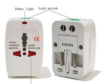 Wholesale uk adapter converter - New OEM All in One Universal Travel Power Plug AC Adapter Converter UK US EU AU Worldwide