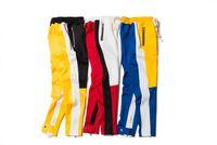 Wholesale Cotton Twill Pants - 2018 New blue Colour Fear Of God Fifth Collection FOG Justin Bieber side zipper casual sweatpants men hiphop jogger pants