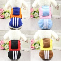 Wholesale hit clothing for sale - 2017 Newest Autumn Winter Pet Dog Cotton Clothing Sweater Puppy Cat Hoodies Coat Apparel Hit Colors Small Pet Jackets