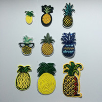 Wholesale Fabric Fake Pineapple Costume Embroidered Clothes Patches Fruit Pineapple Sew On Iron On Patch Clothing For Jackets Backpacks