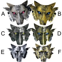 Wholesale Gray Wolf Costume - Party Wolf Mask Halloween Masquerade Party Masks Costume Wolves Ball Bar Decoration Adult for Party Costume