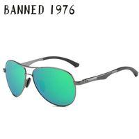 Wholesale Magnesium Aluminium Sunglasses - Wholesale- 2017 aluminium magnesium frame spring hinge leg Designer Polarized Sunglasses For Men fashion Driving Sun Glasses with gift box