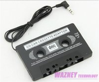 Wholesale S4 Cassette - 100pcs lot*3.5mm jack CAR Audio CASSETTE TAPE ADAPTER FOR iPhone Samsung Galaxy S3 S4 Nano MP3 IPOD NANO CD IPHONE