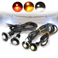 Marque NOUVEAU 2x 3W LED Eagle Eye Rouge Jaune Light Daytime Running DRL Tail Backup Car Motor