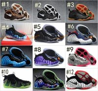 Barato Espuma Barata Do Transporte-New 28 cores Air Penny Hardaway Galaxy One 1 Basketball Shoes Cheap Foams One Olympic Training Sports Shoes Tamanho Eur 7-13 Frete Grátis