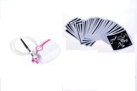 Wholesale Temporary Body Art Kits - Top Sale Mini Airbrush Temporary Body Tattoo Kit Airbrush Tattoo Gun with 50 Airbrush Tattoo Stencils for Body Art Painting Free Shipping