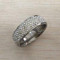 ingrosso pietre preziose tibet-Anello da uomo gioielli hip hop Zircone ghiacciato anelli di lusso taglio topazio cz diamante pieno pietre preziose uomini anello di cerimonia nuziale anello gioielli di moda all'ingrosso