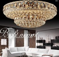 Wholesale beautiful ceiling lights resale online - hot sales beautiful design crystal ceiling chandelier living room lamp large modern light luxury lighting fixtures LLFA