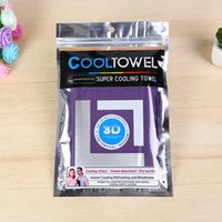 Wholesale Cooling Towel Pva - 100pcs lot front back dual colors 88*33cm 11colors coolings Towel Exercise Sweat Summer Sports Ice Cool Towel PVA Hypothermia sportsTowel