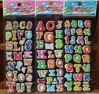 Wholesale Kids Number Toys - Cartoon Kids Room stickers Wall cecor ABC NUMBER Animals Cartoon kids Small Stickers toys 17*7cm