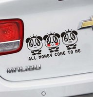 Wholesale Mg3 Car Stickers - 2017 hot vinyl car wrap Creative personality is funny car stickers mg3 smart cartoon panda bumper sticker car sticker chameleon