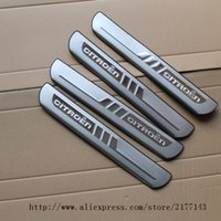 Wholesale Door Sill Scuff - Accessories FIT FOR 2011 2012 2013 2014 Chrome CITROEN C4 C4 L Stainless Door Scuff Sill Plates Cover Trim Chrome Molding 2015