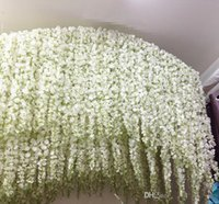 Wholesale Beautiful Stand - 2017 wisteria Wedding Ideas Elegant Artifical Silk Flower Wisteria Vine Wedding Decorations 3forks per piece more quantity more beautiful