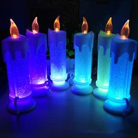Wholesale Green Led Tea Lights - Party Decorations Battery Operated Candle With Battery Powered Wedding Candles Decorations For Parties Events Tea Light Window Candles
