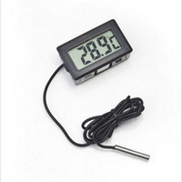Wholesale Thermometers For Aquariums - Professinal Mini Digital LCD Probe Aquarium Fridge Freezer Thermometer Thermograph Temperature for Refrigerator -50~ 110 Degree FY-10