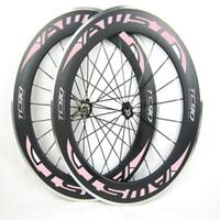 Wholesale 24 Inch Road Wheel Set - AWST 700c 88mm clincher road bike carbon rim alloy wheelset 20 24 spokes aluminum basalt braking surface in stock free shipping