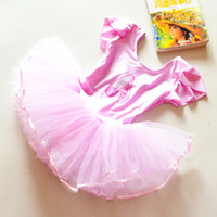 Wholesale Pink Leotard 3t - Flower Girls Ballet Dress For Children Girl Dance Clothing Kids Ballet Costumes For Girls Dance Leotard Girl Dancewear 3 Color