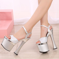 Wholesale Hot Club Heels - wholesaler free shipping factory price hot seller fashion peep toe 18cm heel club high heel women sandals 180