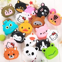 Wholesale Headphones Animal Print - Lovely Cartoon Animal Coins Silicone Coin Purse Women Key Holder Soft Surface Buckle Headphone Bags Manufacturers wholesale