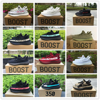 Wholesale Real Discount - Discount 50% Original Box Real Boost 350 V2 Zebra Beluga Blade Cream Running Shoes for Kanye West SPLY 2.0 Runners Casual Sneakers Size36-48
