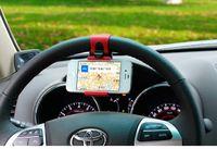 cep telefonları için araba beşiği toptan satış-Evrensel Araba Streeling Tekerlek Cradle telefon Tutucu SMART Klip Araba Bisiklet Dağı iphone samsung cep Telefonu GPS Cep telefonu aksesu ...