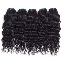 Wholesale Cheap Brazilian Water Wave Hair - Brazilian Peruvian Cambodian Indian Virgin Hair Bundle Deals Water Wave Cheap Remy Natural Wave Curly Hair Weave Products For Women 6 pcs