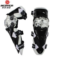 Wholesale Scoyco Elbow - Top new model scoyco Sports Safety motorcycle knee pads racing off-road knee pads riding knee pads cycling kneepads