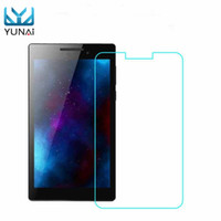 Wholesale glass tablet lenovo - Wholesale- YUNAI 0.3mm 9H Glass Screen Protectors For Lenovo Tab 2 A7-10F New 7inch Glass Screen Guard Tablet Screen Protector Film