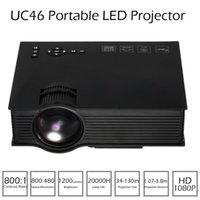 UC46 Mini LED LCD Projetor Portátil HD 1080P Projetores Suporta DLNA Miracast Airplay Wifi sem fio de Smartphone TV Pad PC Media Player