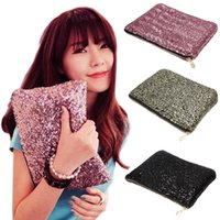 Vente en gros - Glitter Sparkling Sequins Dazzling Clutch Evening Party Sac Sac à main Bling Purse 9IHX