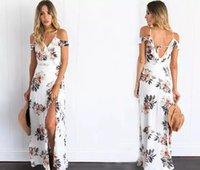 Wholesale Maxi Long Dress Leopard Print - 11 2017 summer new European and American women long dress printed crossed dress