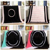 Wholesale Wholesale Rugs Carpets - Fashion VS Pink Letter Blanket Soft Coral Rug Beach Towel Blankets Air conditioning Rugs Comfortable Carpet 130*150cm KKA3230